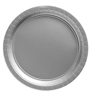 Silver Plates - 23cm Paper Party Plates