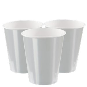 Metallic Silver Paper Cups - 355ml