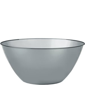 Silver Plastic Serving Bowl - 4.7L