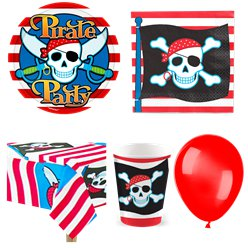 Pirate Skull Party Pack - Value Pack for 8