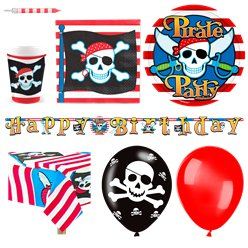 Pirate Skull Party Pack - Deluxe Pack for 16