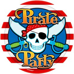 Pirate Skull Plates - 23cm Paper Party Plates