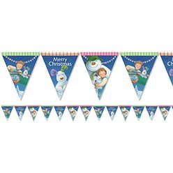 Snowman and Snowdog Paper Bunting - 3.7m