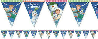 Snowman and Snowdog Paper Bunting - 1.7m