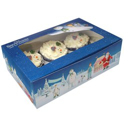 Snowman and Snowdog Cupcake Boxes