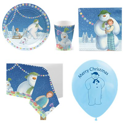 Snowman & Snowdog Christmas Party Pack - Value pack for 8
