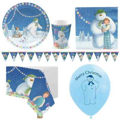 Snowman & Snowdog Christmas Party Pack - Deluxe Pack for 8