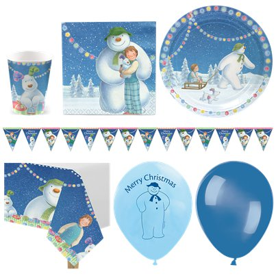 Snowman & Snowdog Christmas Party Pack - Deluxe Pack for 16