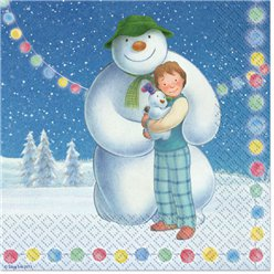 Snowman and Snowdog Napkins - 2ply Paper