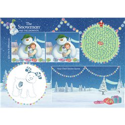 Snowman & Snowdog Activity Placemats with Stickers