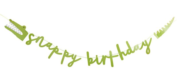 Snappy Birthday Banner - 2m
