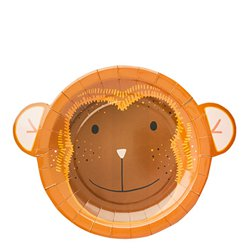 Snappy Monkey Paper Plates