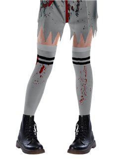 Zombie Cheerleader Socks- Child