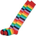 Rainbow Striped Clown Socks
