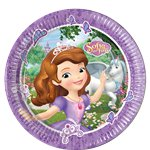 Sofia the First Paper Party Plates - 23cm