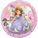 "Sofia the First Pink Balloon - 18"" Foil"