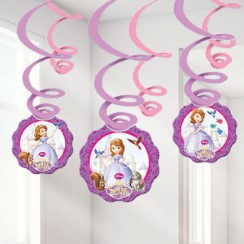 Sofia the First Hanging Decorations - 61cm Hanging Swirls