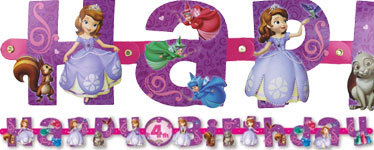 Sofia the First Banner - 2m Letter Banner
