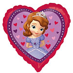 "Sofia the First Heart Balloon - 18"" Foil"