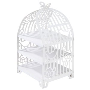 Something in the Air Birdcage Wedding Cup Cake Stand - 3 Tier
