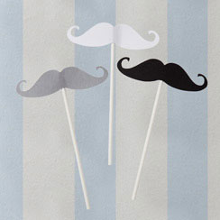 Something in the Air Moustache Sticks Wedding Photo Booth Props