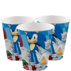 Sonic The Hedgehog Cups - 266ml Paper Party Cups