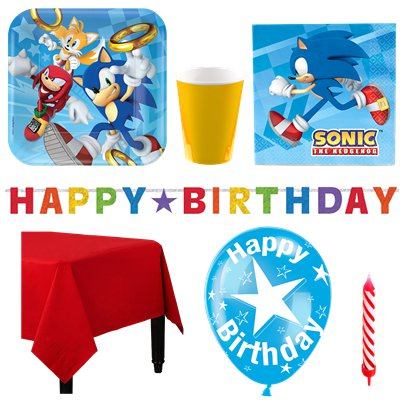 Sonic The Hedgehog Party Pack - Deluxe Pack for 8