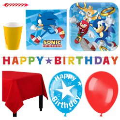 Sonic The Hedgehog Party Pack - Deluxe Pack for 16