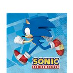 Sonic The Hedgehog Paper Napkins - 33cm