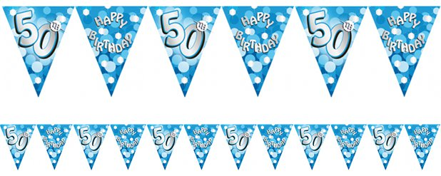 50th Birthday Bunting - 4m