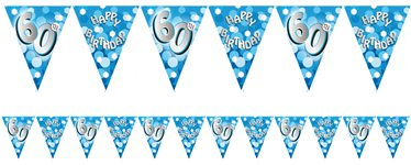 60th Birthday Bunting - 4m