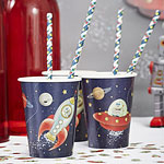 Space Adventure Cups - 255ml Paper Party Cups