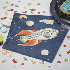 Space Adventure Napkins - Paper