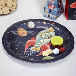 Space Adventure Plates - 23cm Paper Party Plates