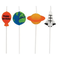 Space Blast Party Candles - Novelty Shaped Pick Candles