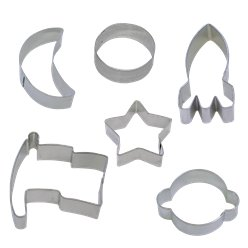 Space Blast Party Cookie Cutter Set - Assorted Shaped Cookie Cutter Set