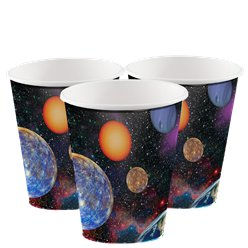 Space Blast Party Cups - 256ml Paper Cups