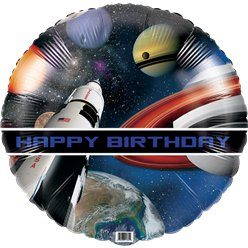 "Space Blast Party Balloon - 18"" Foil"