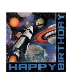 Space Blast Party Lunch Napkins - 33cm 3ply Paper