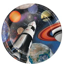 Space Blast Party Plates - 23cm Paper Plates