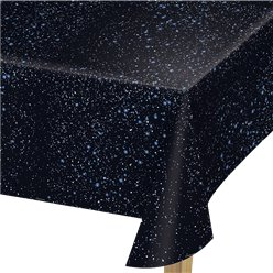 Space Blast Party Tablecover - 1.37m x 2.74m Plastic