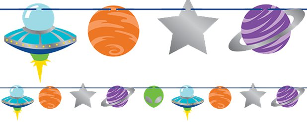 Space Ribbon Banner - 2.2m