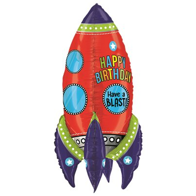 Space Rocket Birthday Balloon - 36