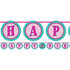 Sparkle Spa Party Happy Birthday Ribbon Banner - 3m