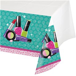 Sparkle Spa Party Plastic Tablecover