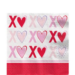Sparkling Hearts Luncheon Napkins