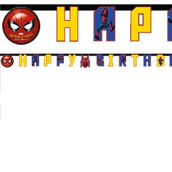 Spider-Man Homecoming - Happy Birthday Letter Banner