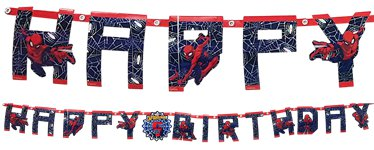 Spider-Man Add An Age Letter Banner