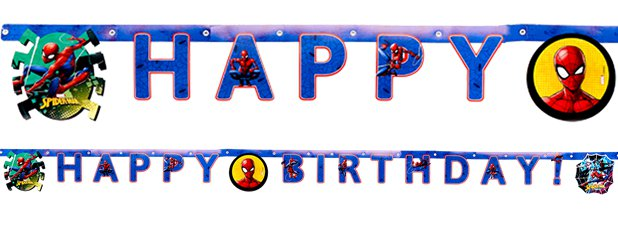 Spiderman Team Up Birthday Banner