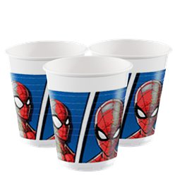 Spiderman Team Up Plastic Cups - 200ml